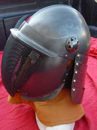 Blackened Fencing Helm